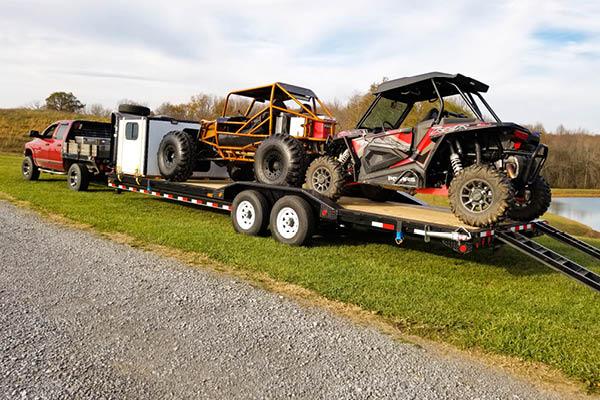 PJ Trailers Car Hauler and Equipment