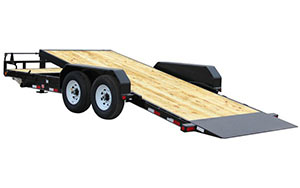 T6 6 inch channel equipment tilt trailer